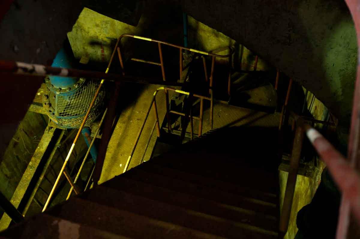 Sous la salle des pompes
