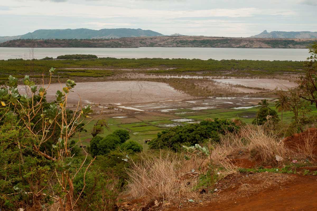 La vallée des Caimans et au fond le fort A